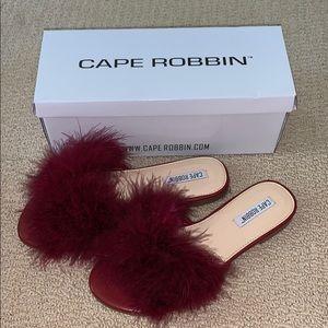 Burgundy Cape Robin Slide-On Sandals